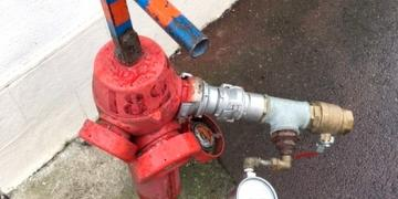 AEP : Test de pression sur les poteaux incendie